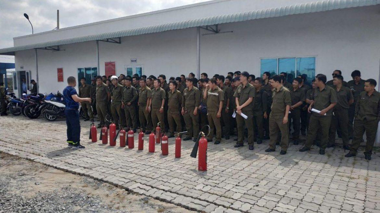 """Khoá học """"Phòng Cháy Chữa Cháy"""" dành cho các đơn vị trong Tổng công ty Tân Cảng Sài Gòn."""
