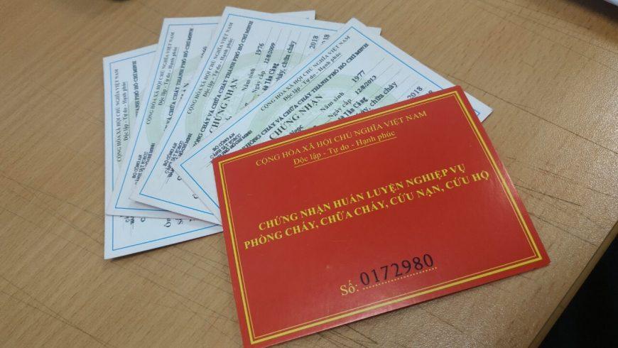 Mở lớp huấn luyện và cấp giấy chứng nhận nghiệp vụ PCCC