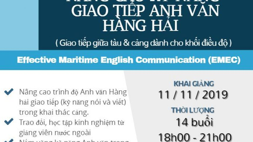 """KHÓA HỌC """"NÂNG CAO KỸ NĂNG GIAO TIẾP ANH VĂN HÀNG HẢI"""""""