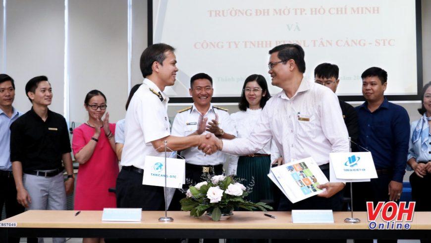 Kết hợp tác giữa Trung tâm đào tạo trực tuyến thuộc ĐH Mở Tp. HCM và Tân Cảng-STC