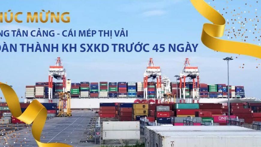 Chúc mừng TCTT hoàn thành Kế hoạch năm trước 45 ngày!