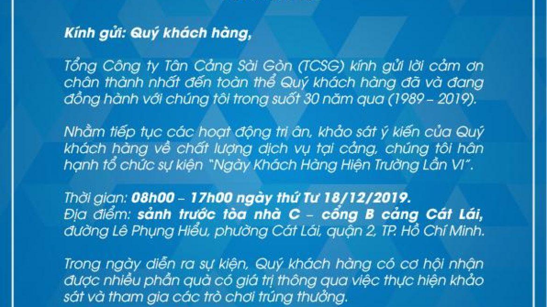 """"""" NGÀY KHÁCH HÀNG HIỆN TRƯỜNG LẦN VI """""""